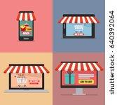 online shopping concept. vector ...   Shutterstock .eps vector #640392064