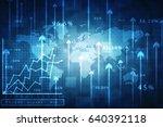 2d rendering stock market... | Shutterstock . vector #640392118