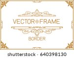 gold photo frame with corner... | Shutterstock .eps vector #640398130