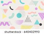 geometric pattern memphis style ... | Shutterstock .eps vector #640402993