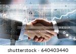 business handshake as symbol... | Shutterstock . vector #640403440