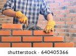 masonry. | Shutterstock . vector #640405366