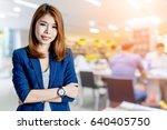 beautiful asian business woman  ... | Shutterstock . vector #640405750