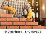 masonry. | Shutterstock . vector #640409836