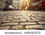 city street background with... | Shutterstock . vector #640410370