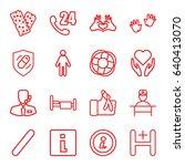 help icons set. set of 16 help... | Shutterstock .eps vector #640413070