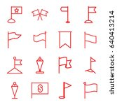 pennant icons set. set of 16...