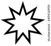 symbol bahai star of nine... | Shutterstock .eps vector #640416904