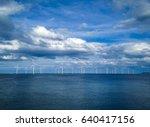 offshore wind turbine in a wind ... | Shutterstock . vector #640417156