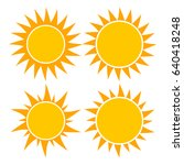 sun vector symbol icon design.... | Shutterstock .eps vector #640418248