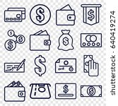 pay icons set. set of 16 pay... | Shutterstock .eps vector #640419274