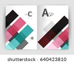 business a4 business brochure... | Shutterstock .eps vector #640423810