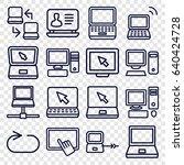 desktop icons set. set of 16... | Shutterstock .eps vector #640424728
