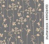 vector seamless floral pattern... | Shutterstock .eps vector #640426450