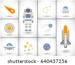 space exploration icons set ...   Shutterstock .eps vector #640437256
