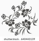 flower motif drawing with... | Shutterstock .eps vector #640443139