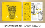 vintage typography cocktail... | Shutterstock .eps vector #640443670