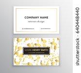 vector golden business card....   Shutterstock .eps vector #640448440