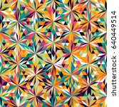 abstract geometric low poly... | Shutterstock .eps vector #640449514