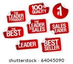 set of stickers for best sales | Shutterstock .eps vector #64045090