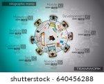 infograph background template... | Shutterstock .eps vector #640456288