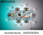 infograph background template... | Shutterstock .eps vector #640456504