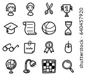 school objects  icons set  ... | Shutterstock .eps vector #640457920