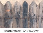 Wooden Fence In The Winter....