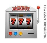 casino slot gambling machine...   Shutterstock . vector #640467484