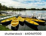 yellow boats | Shutterstock . vector #640469500