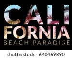 california background with palm.... | Shutterstock .eps vector #640469890