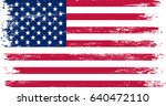 grunge usa flag.vintage... | Shutterstock .eps vector #640472110