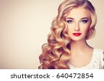 fashion portrait of young... | Shutterstock . vector #640472854