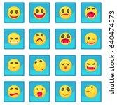 smile icon blue app for any... | Shutterstock .eps vector #640474573