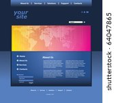 abstract business web site... | Shutterstock .eps vector #64047865