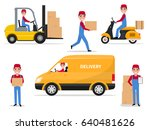 service fast delivery  shipping.... | Shutterstock .eps vector #640481626