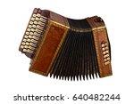 musical instrument accordion... | Shutterstock . vector #640482244