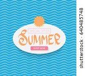vector summer sale bright label ... | Shutterstock .eps vector #640485748