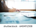 working business people analyse ...   Shutterstock . vector #640491508