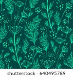 seamless vector pattern with... | Shutterstock .eps vector #640495789
