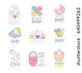 Baby Shop Set For Logo Design ...