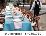 flower table decorations for... | Shutterstock . vector #640501780