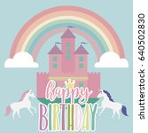 magic birthday party card ... | Shutterstock .eps vector #640502830