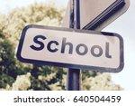 A Uk Outdoor School Sign  ...