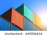 industrial containers box from... | Shutterstock . vector #640506616
