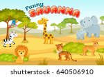 african animals in the nature.... | Shutterstock .eps vector #640506910
