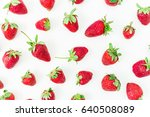 strawberry on white background. ... | Shutterstock . vector #640508089