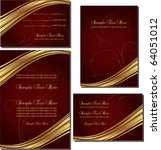 wedding invitation card set | Shutterstock .eps vector #64051012