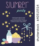 sleepover invitation card with... | Shutterstock .eps vector #640515514