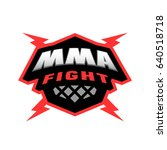mma fight. mixed martial arts... | Shutterstock . vector #640518718